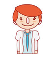 cute boy with clothes and hairstyle vector image vector image
