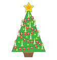 Danish Christmas Tree vector image vector image