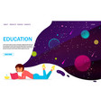 education website landing page design vector image vector image