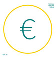euro symbol icon graphic elements for your design vector image