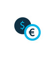 exchange money icon colored symbol premium vector image