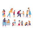 family support parents and friends comforting and vector image vector image