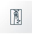 fashion sketch icon line symbol premium quality vector image vector image