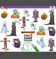 find two same halloween characters educational vector image vector image