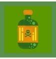 flat shading style icon potion in bottle vector image vector image