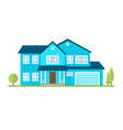 flat suburban american house for web vector image vector image