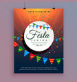 flyer design for festa junina celebration event vector image vector image