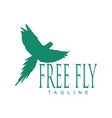 free fly macaw logo vector image vector image