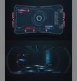 futuristic vr head-up display design future vector image vector image