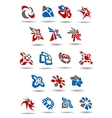 Geometric abstract icons and emblems for business vector image