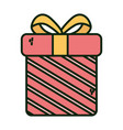 gift box surprise merry christmas vector image