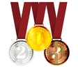 gold first second and third place award vector image