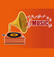 gramophone old fashion icon vector image vector image