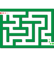 green labyrinth vector image vector image