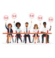 group of young professional competition judges vector image vector image