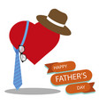 happy fathers day greeting with white background vector image vector image