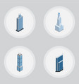 isometric construction set of residential vector image vector image