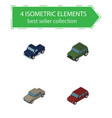 isometric transport set of auto car suv and vector image