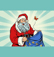 joyful santa claus without gifts vector image vector image