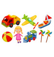 kids toys icons isolated on white background vector image vector image
