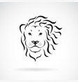 lion head design on a white background wild vector image vector image