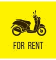 Motorbike For Rent icon vector image vector image