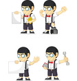 Nerd Boy Customizable Mascot 18 vector image vector image