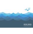 ocean waves background vector image vector image