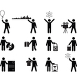 People holding stuff vector image vector image