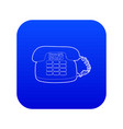 phone icon blue vector image vector image