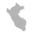 pixel map of peru dotted map of peru isolated on vector image vector image