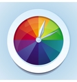 rainbow watches - abstract icon vector image vector image