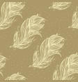 seamless pattern with big feather vector image vector image