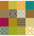 seamless vintage patterns vector image vector image