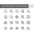 search simple line icons with vector image vector image