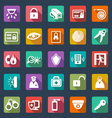 Security icons- flat design vector image vector image