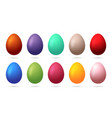 set 10 color easter eggs design elements for vector image vector image