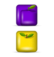 set 3 of app icons fruits vector image vector image