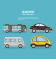 set transport vehicle image vector image vector image
