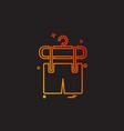shorts icon design vector image vector image