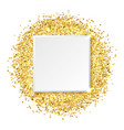 square glitter gold frame vector image vector image