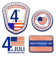 Stamps of Independence Day EPS 10 vector image