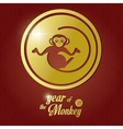Year of the monkey design vector image vector image