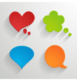 set of bright paper speech bubbles vector image