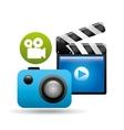 clapper camera video player concept design vector image