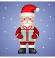 Cartoon Santa Claus Toy Character Hold Present vector image
