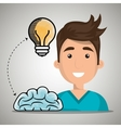 man idea speak vector image