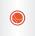abstract basketball symbol design vector image vector image