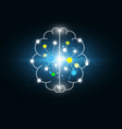 abstract digital electric brain science background vector image