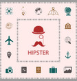 abstract hipster silhouette elements for your vector image vector image